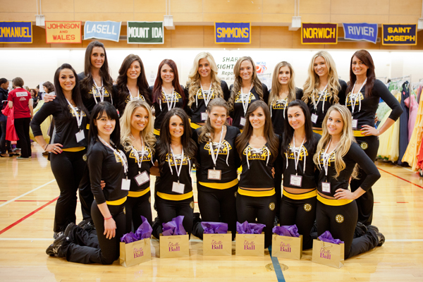 The Bruins Ice Girls volunteered at Boutique Day as personal shoppers