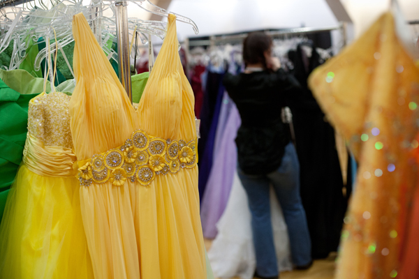 Over 2,000 prom gowns were displayed on Boutique Day.